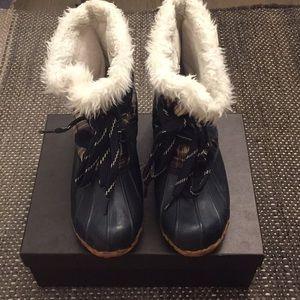 Winter/rain boots Navy Plaid